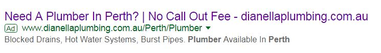 Google Adwords Tips for Dianella Plumbing by Perth Marketing Company